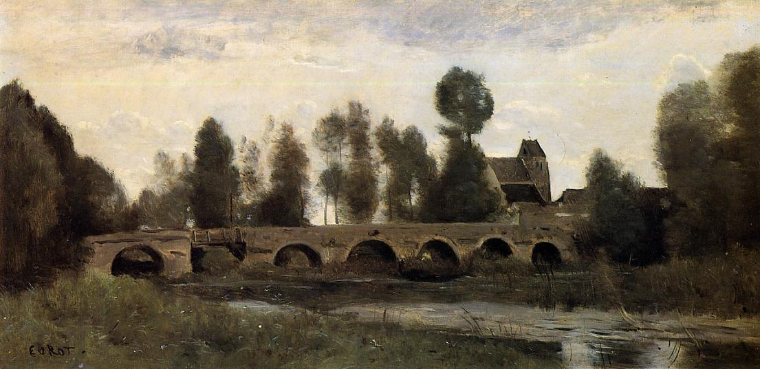 Jean Baptiste Corot The Bridge at Grez sur Loing